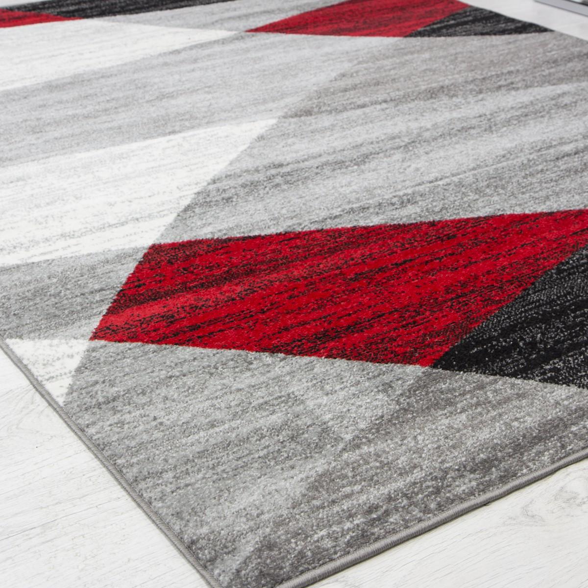 moderner designer teppich geometrisches muster meliert. Black Bedroom Furniture Sets. Home Design Ideas
