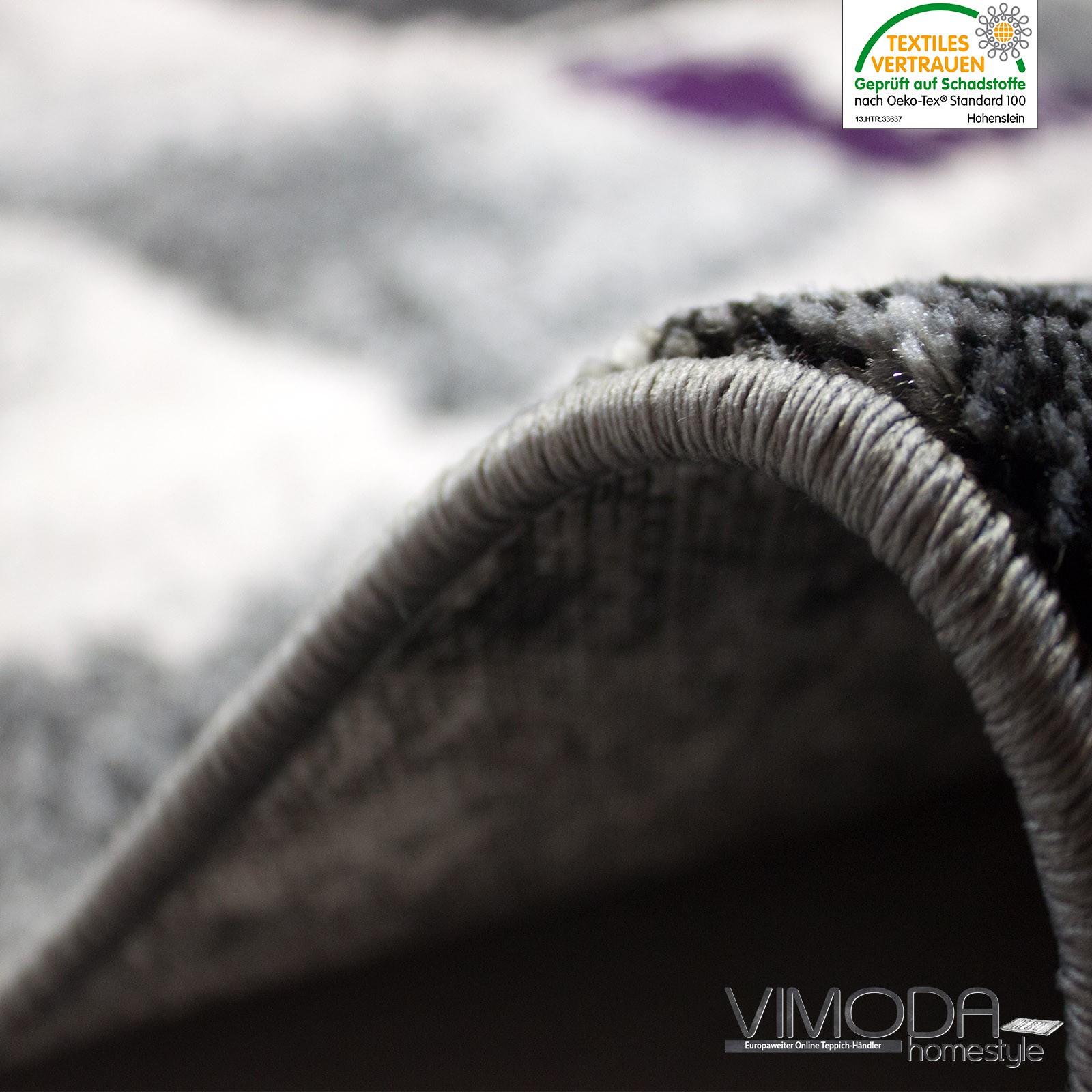 Moderner Frisee Designer Teppich mit Abstrakt Muster